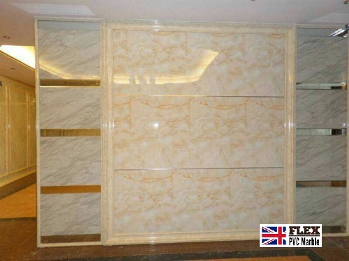 flexpvc marble sheet wall design