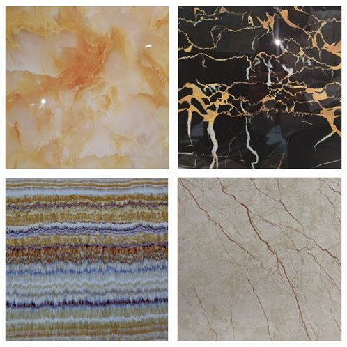 MIX PVC Marble Designs (size 8x4ft, 7 no's)