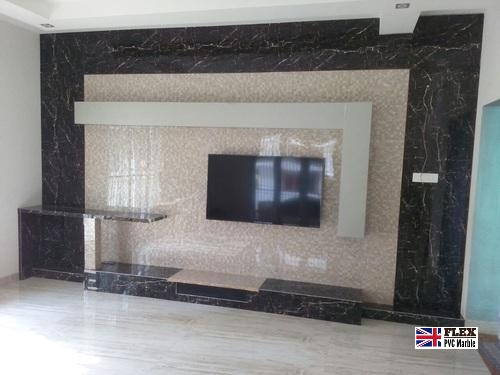 living room tv wall pvc marble sheet