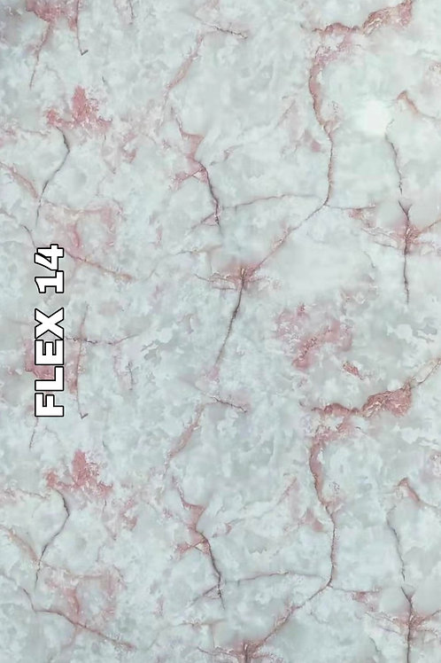 FLEX 14 - Onyx Ming Rose PVC Marble (size 8x4ft, 7 no's)