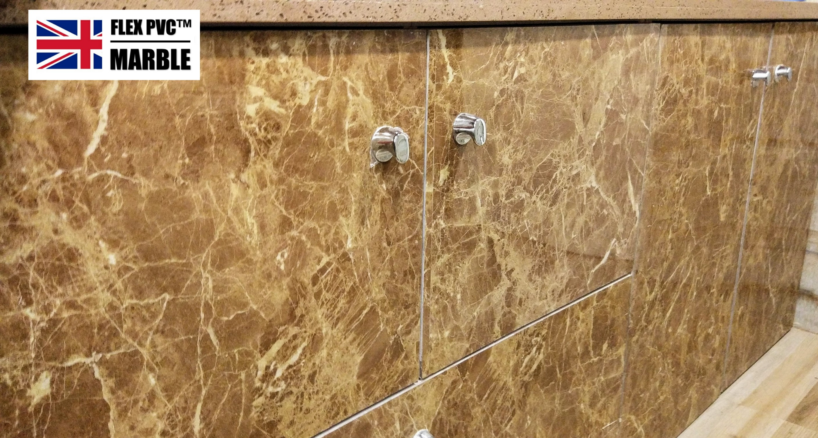 bathroom cabinet flex pvc marble