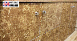 bathroom cabinet flex pvc marble