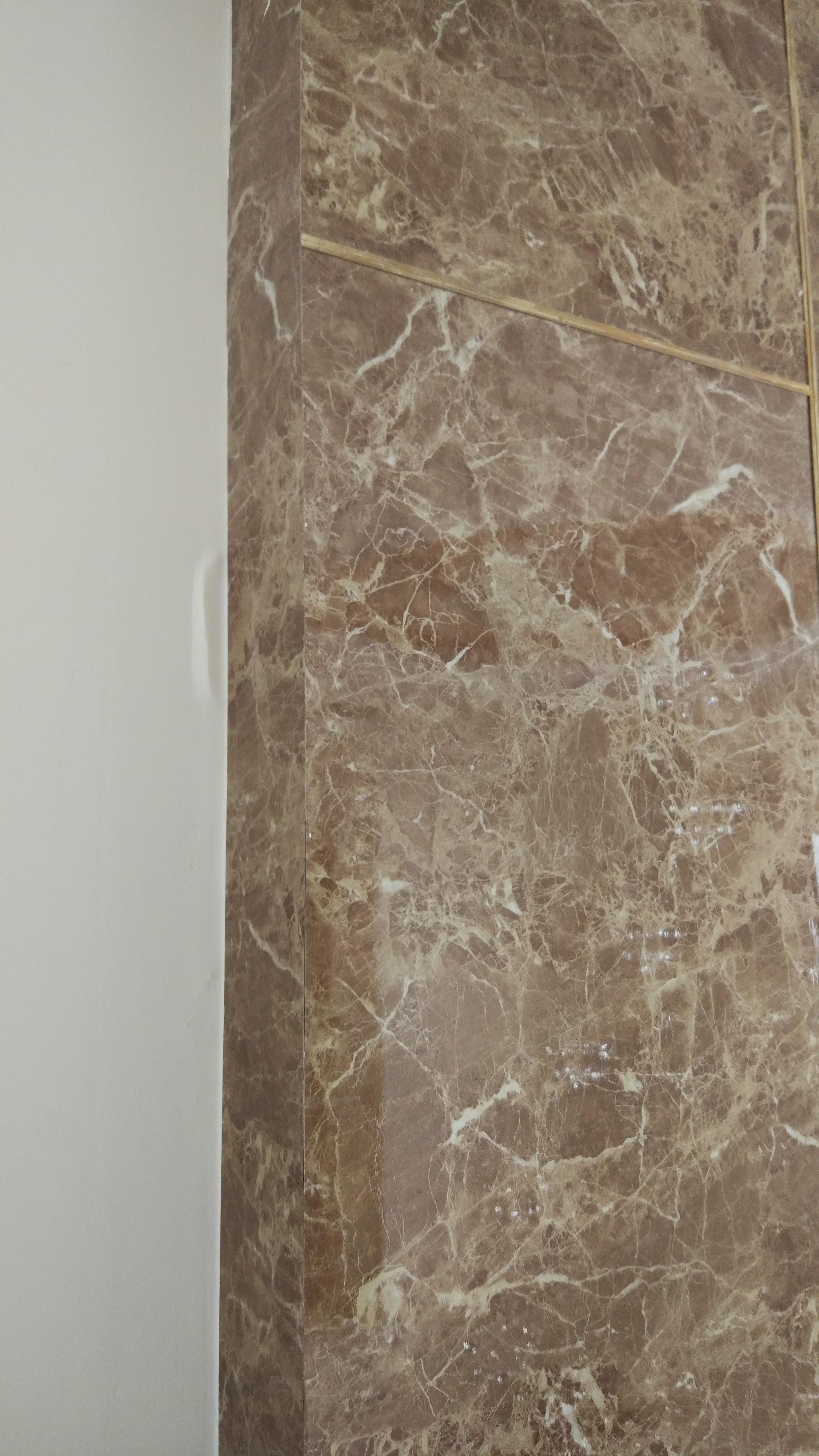 Corner pvc uv marble