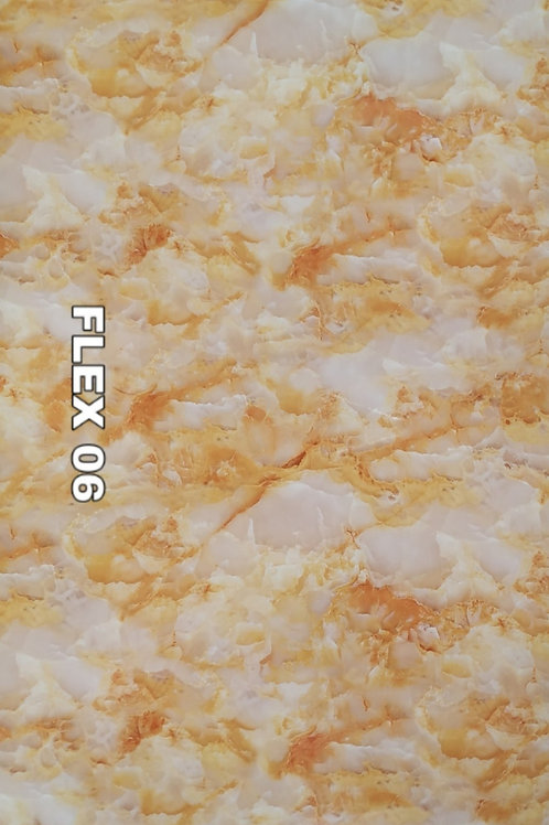FLEX 06 - ONYX PVC Marble, Lush Orange White (size 8x4ft, 7 no's)