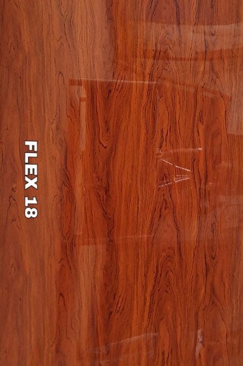 FLEX 18 - PVC Veneer, Merlot Deco Oak Wood, size 8x4ft (32 sq. ft.)