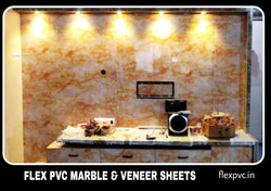 Kitchen wall and furniture flex plvc marble