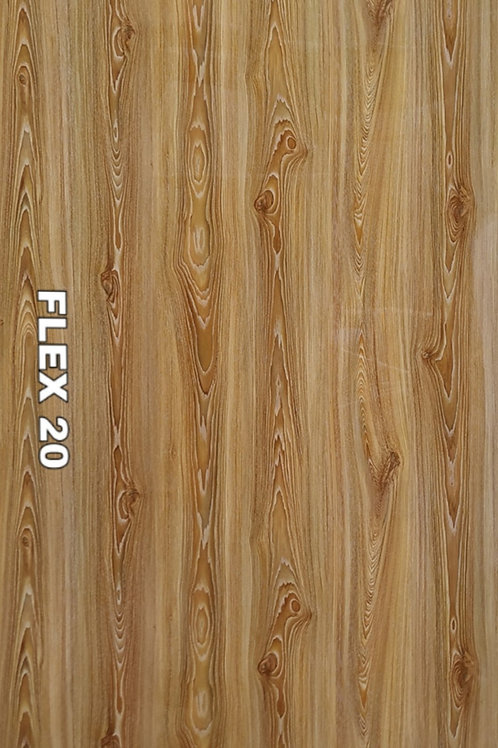 FLEX 20 - PVC Veneer, Chestnut Wood (size 8x4ft, 7 no's)
