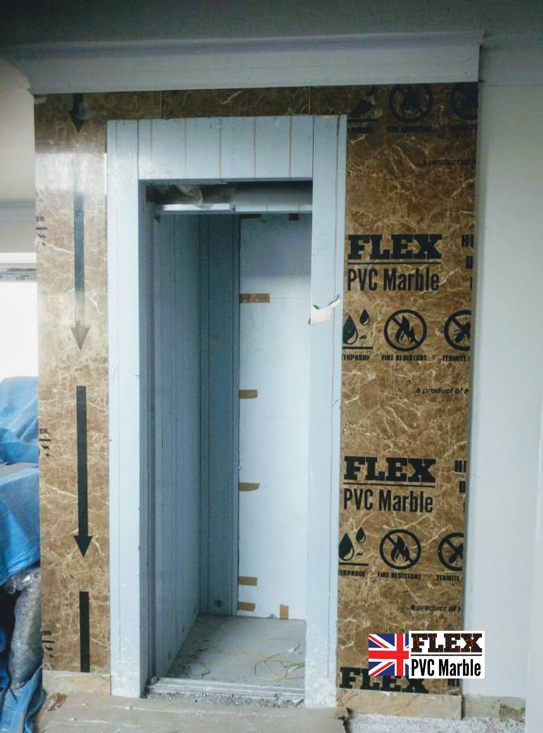 FLEX MARBLE LIFT DECORATION PVC MARBLE U