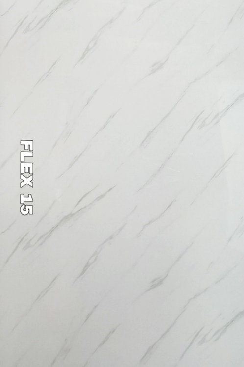FLEX 15 - Statuario Italian White PVC Marble (size 2x4ft, 8 no's)