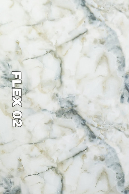 FLEX 02 - Onyx Marble, White sea bed, size 8x4ft (32 sq. ft.)