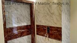 door wardrobe flex pvc marble