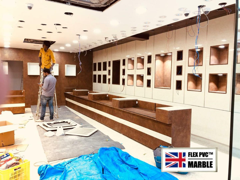showromm walls and furniture flex pvc ma