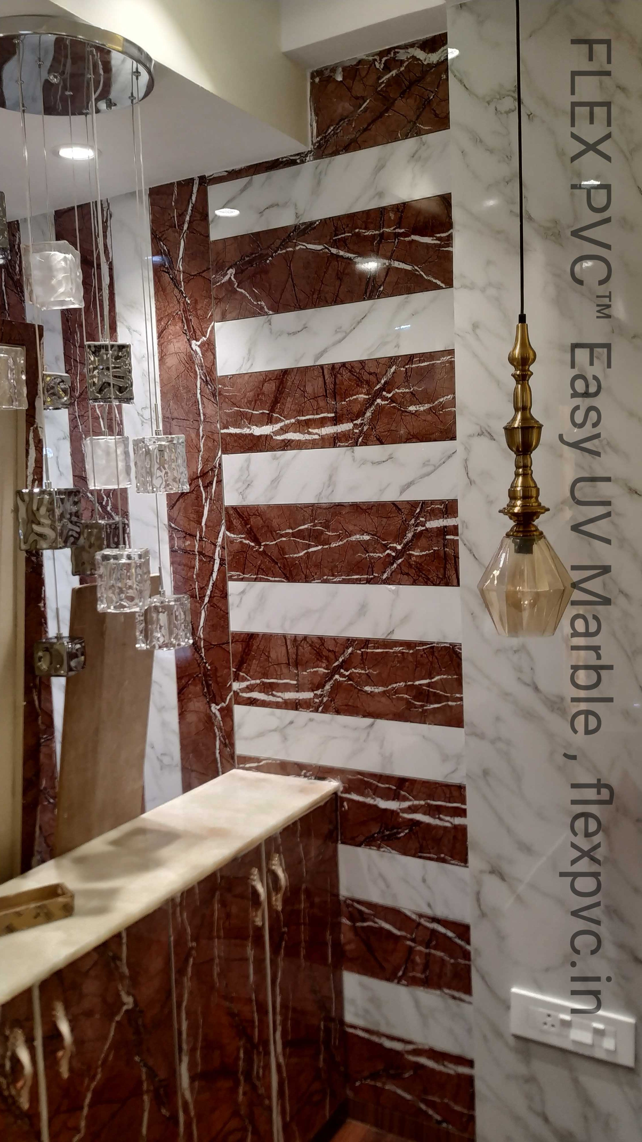 Designer Wall Cladding PVC Marble