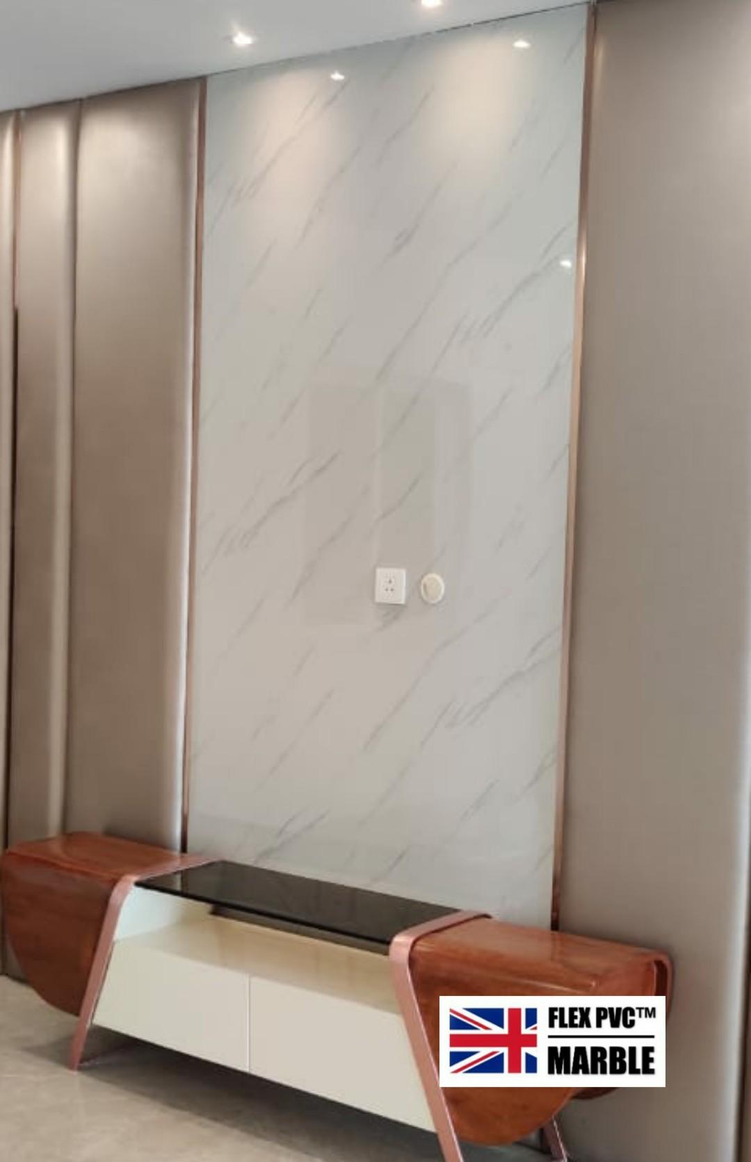 TV background pvc uv marble