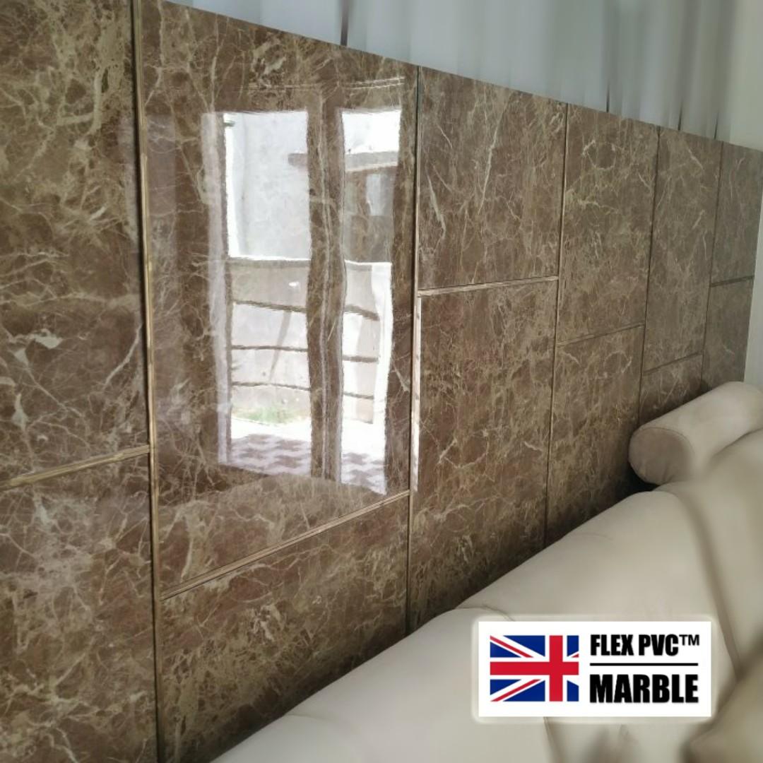 living room wall pvc marble