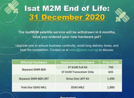 ISAT M2M End of Life: Replace Your Hardware Before 31 December 2020