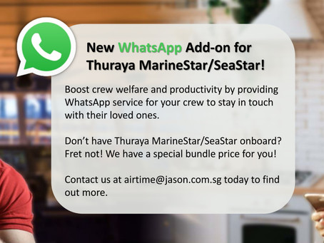 New Add-On: WhatsApp service for Thuraya MarineStar & SeaStar!