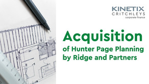 Acquisition of Hunter Page Planning by Ridge and Partners