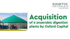 Acquisition of two Anaerobic Digestion Plants by Oxford Capital Partners