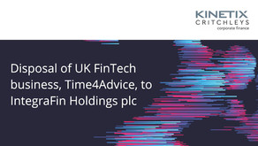 Disposal of UK FinTech business, Time4Advice, to IntegraFin Holdings plc