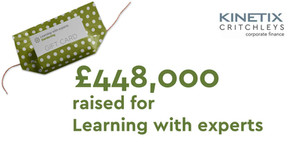 £448,000 raised for Learning With Experts