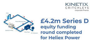 £4m Series D Equity funding round completed for Heliex Power
