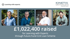 £1,022,400 raised for Learning With Experts