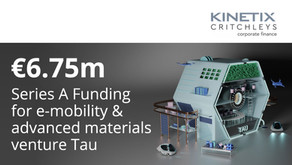 €6.75m Series A funding for Turin-based e-mobility and advanced materials venture, Tau