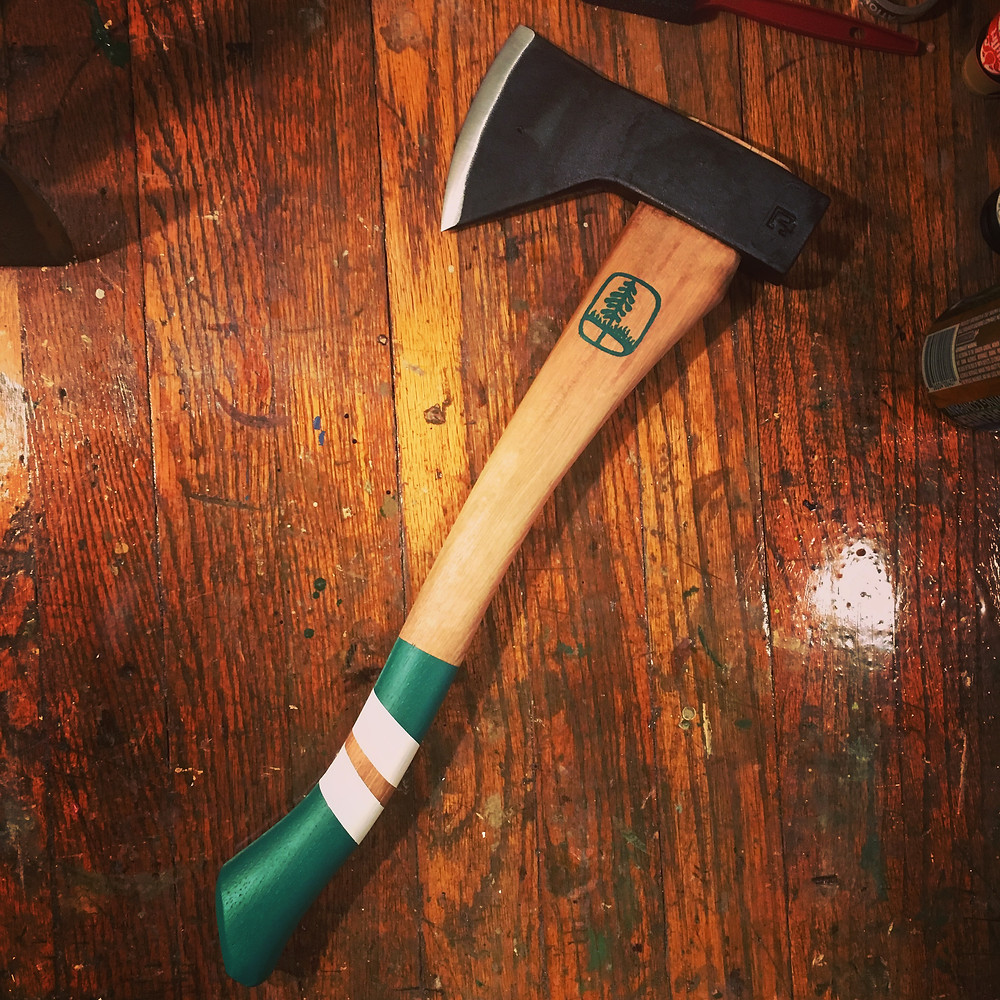 Custom camp axe for the best man
