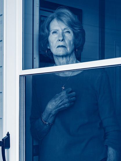 Longing #2 Marjorie at the Door