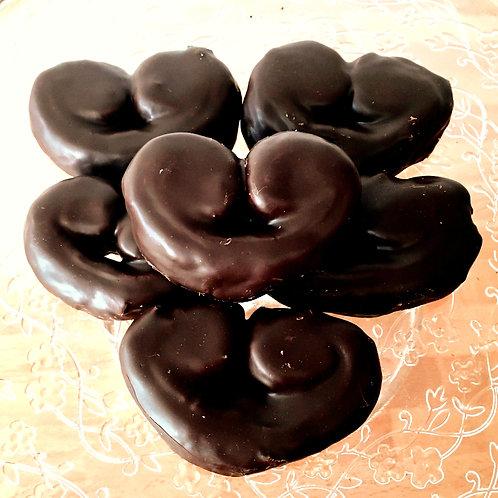 Mini palmeras jugosas de chocolate bandeja 6 uds.