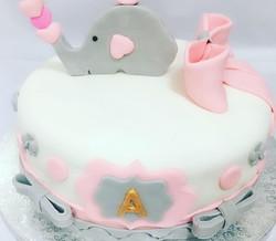 Tarta elefante fondant baby shower