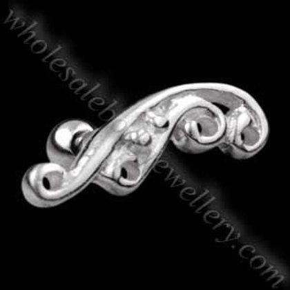 Silver Filigree Steel Microbar (TIP-17)