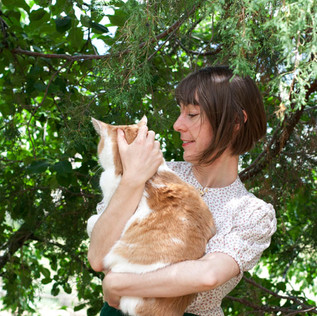 Country Girl & Cat