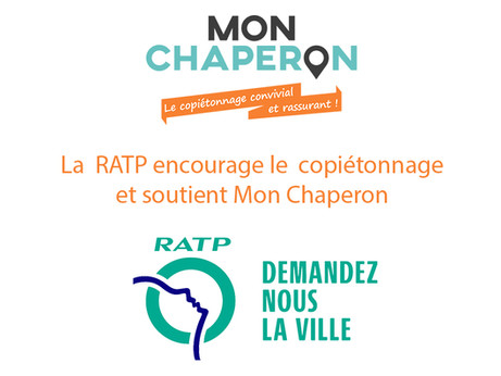 La RATP encourage le copiétonnage et soutient l'appli « Mon Chaperon »!