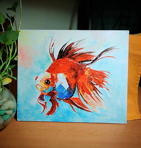 Fishy (Knife Painting)