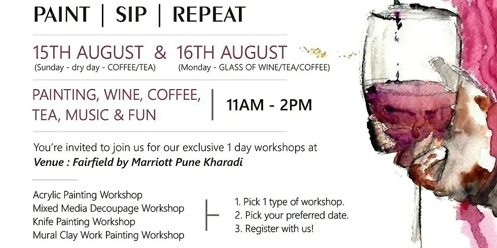 Pune Workshops - OFFLINE @ Fairfield, Marriott