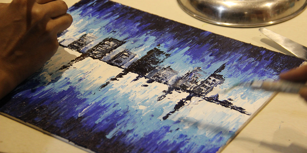 Knife Painting on Canvas