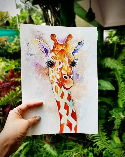 Giraffe (Watercolor)
