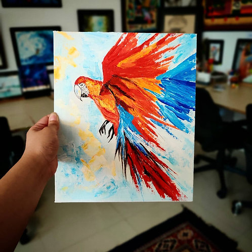 Macaw (Knife Painting)