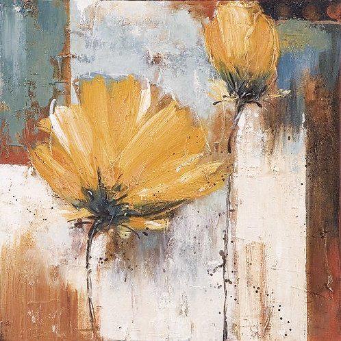 DIY Knife Painting KIT  - Abstract Yellows (Medium)