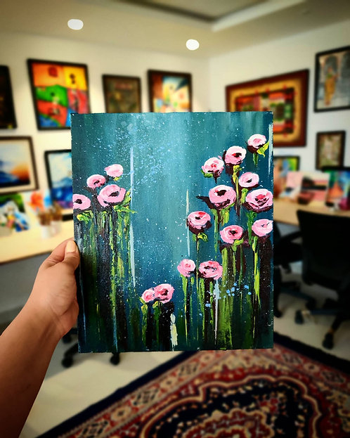 Abstract Floral (Knife Painting)