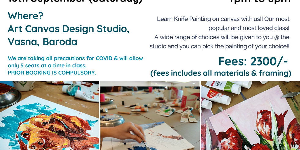 BARODA Workshops - OFFLINE @ Art Canvas Design Studio