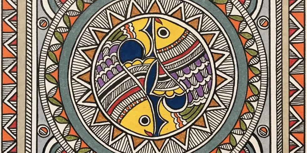 Online - Kalamkari Painting on Canvas