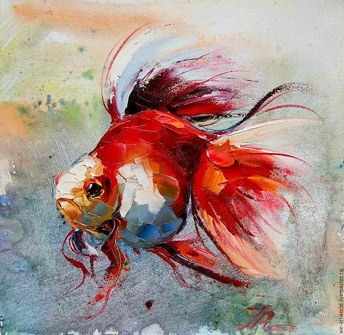 DIY Knife Painting KIT  -  Fishy (Medium)