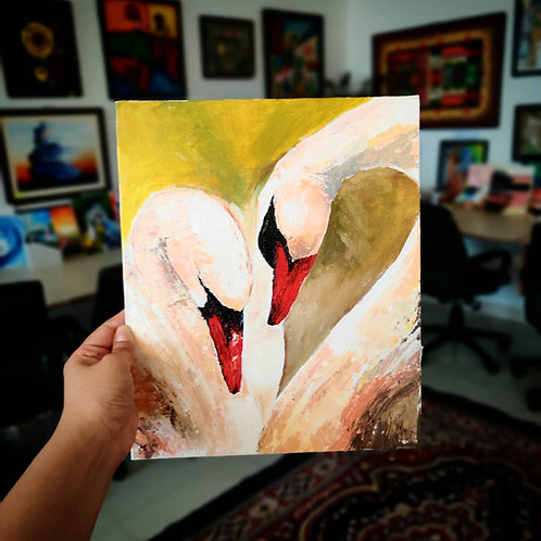 White Swan (Knife Painting)