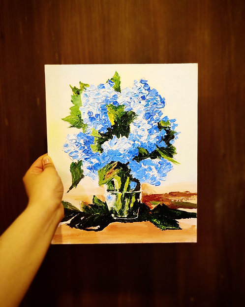 Blue Bunch (Knife Painting)