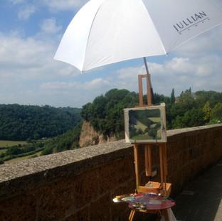 Painting in Citiva Castellana, Italy