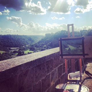 Painting in Civita Castellana, Italy