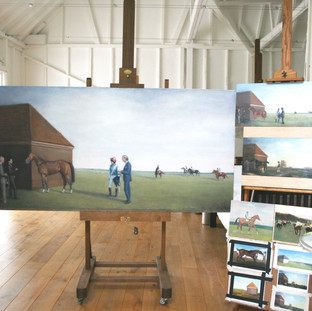 Nichola with the Frankel Painting and the Preliminary Studies, December 2015